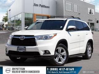 Used 2014 Toyota Highlander Limited - ONE OWNER - NO ACCIDENTS for sale in North Vancouver, BC
