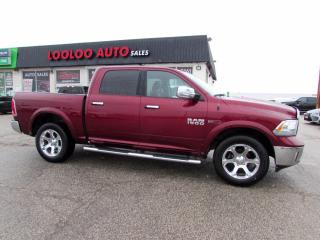 Used 2018 RAM 1500 Laramie Crew Cab 4WD Diesel Navi Camera Certified for sale in Milton, ON
