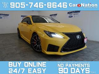 Used 2020 Lexus RC F PERFORMANCE PACKAGE | V8 472 HP! | RARE! for sale in Brantford, ON