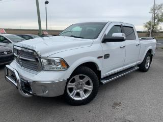 Used 2015 RAM 1500 Longhorn,bluetooth,toit ouvrant,cuir,navigation,suspension a air,linex, camÉra de recul,eco diesel,sauvÉ sur l'essence et les plaques!!! for sale in Carignan, QC