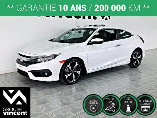 Used 2017 Honda Civic COUPE TOURING ** GARANTIE 10 ANS ** Sportif et tout équipé! for sale in Shawinigan, QC