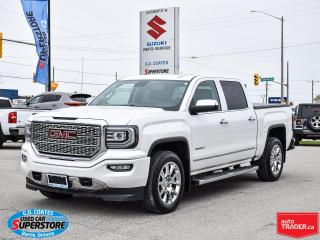 Used 2018 GMC Sierra 1500 Denali Crew Cab 4x4 ~Nav ~Cam ~Leather ~Moonroof for sale in Barrie, ON
