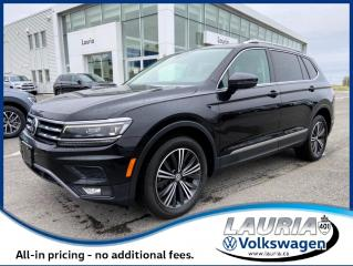 Used 2018 Volkswagen Tiguan 2.0T Highline 4Motion AWD - LOADED! for sale in PORT HOPE, ON