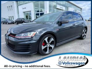 Used 2017 Volkswagen Golf GTI Autobahn Manual - LOW KMS / LOADED for sale in PORT HOPE, ON