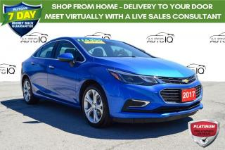 Used 2017 Chevrolet Cruze Premier Auto ONE OWNER for sale in Grimsby, ON