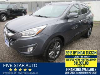 Used 2015 Hyundai Tucson GLS *One Owner* Certified w/ 6 Month Warranty for sale in Brantford, ON