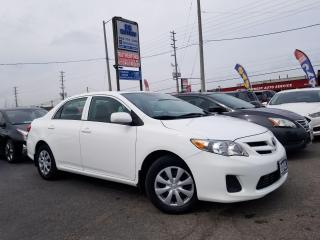 Used 2013 Toyota Corolla No Accidents| Low Km| Auto | CE | Certified for sale in Brampton, ON
