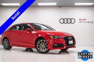 Used 2015 Audi A3 1.8T Progressiv w/Navi & S-Line Package*Low KM-Local* for sale in Winnipeg, MB
