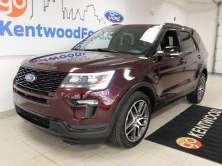 Used 2018 Ford Explorer Sport | AWD | Heated/Cooled Leather | Moonroof | NAV for sale in Edmonton, AB