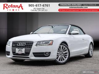 Used 2012 Audi A5 2.0L Premium Plus_Navi_Blind Spot_ SensorsBT for sale in Oakville, ON