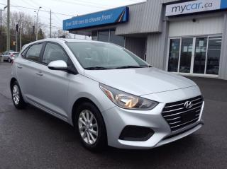 Used 2020 Hyundai Accent Preferred ALLOYS, HEATED SEATS, BACKUP CAM, APPLE CAR PLAY!! for sale in Kingston, ON