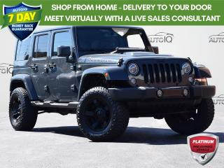 Used 2017 Jeep Wrangler Unlimited Sahara UNLIMITED SAHARA| 6-SPEED MANUAL | 4WD 3.6L V6 | DUAL TOP | CLASS II HITCH RECEIVER | A/C | NAVIGATI for sale in Waterloo, ON
