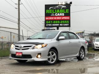 Used 2012 Toyota Corolla S,SPORT,LOADED,LOW KMS,CERTIFIED,NO-ACCIDENT,AUTO for sale in Mississauga, ON