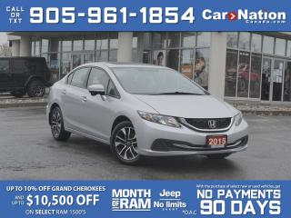 Used 2015 Honda Civic Sedan EX| LOCAL TRADE| SUNROOF| PUSH START| HEATED SEATS for sale in Burlington, ON