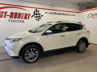 Used 2017 Toyota RAV4 Hybrid HYBRID, Limited TOI, NAV, GPS for sale in St-Hubert, QC