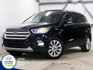 Used 2018 Ford Escape Titanium EcoBOOST **4X4** for sale in Val-David, QC
