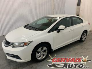 Used 2013 Honda Civic LX A/C Sièges Chauffants Bluetooth *Transmission Automatique* for sale in Trois-Rivières, QC