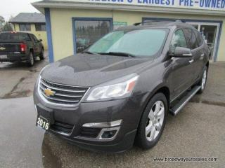 Used 2016 Chevrolet Traverse ALL-WHEEL DRIVE LT EDITION 7 PASSENGER 3.6L - V6.. CAPTAINS.. THIRD ROW.. HEATED SEATS.. BACK-UP CAMERA.. DUAL SUNROOF.. REAR CLIMATE CONTROLS.. for sale in Bradford, ON