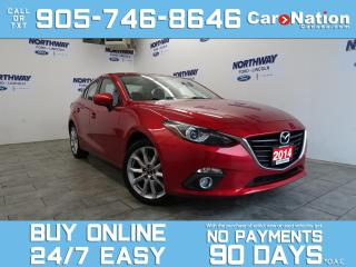Used 2014 Mazda MAZDA3 GT | LEATHER | SUNROOF | NAV | BOSE | ONLY 37 KM! for sale in Brantford, ON