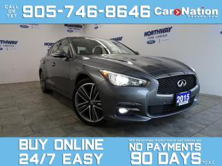 Used 2015 Infiniti Q50 LIMITED |AWD | LEATHER | ROOF | NAV | LOW KMS! for sale in Brantford, ON