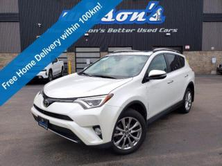 Used 2017 Toyota RAV4 Limited, AWD - Sunroof, Leather, Navi, Heated Seats, Reverse Camera, Blindspot Monitor, and More! for sale in Guelph, ON