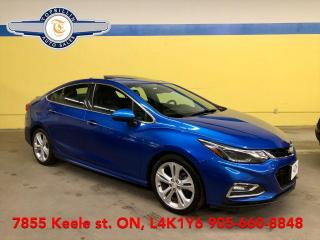 Used 2017 Chevrolet Cruze Premier, Navi, Sunroof, B Cam, Fully Loaded! for sale in Vaughan, ON
