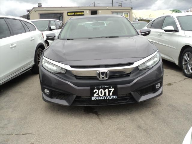 2017 Honda Civic Touring LEATHER,NSVIGSTION CAMERA POWER SEATES