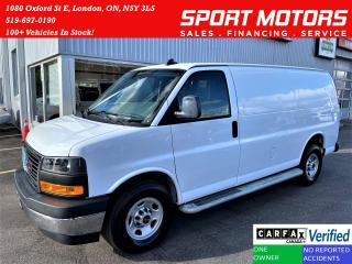 Used 2019 GMC Savana 2500 Cargo 6.0L V8 Extended+Camera+CLEAN CARFAX for sale in London, ON