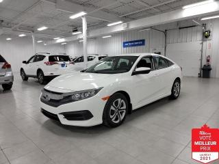 Used 2018 Honda Civic LX - CAMERA + S. CHAUFFANTS + JAMAIS ACCIDENTE !!! for sale in Saint-Eustache, QC