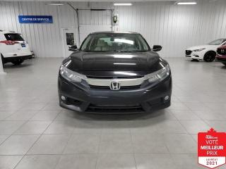 Used 2017 Honda Civic TOURING - CUIR + TOIT + CAMERA + SIEGES CHAUFFANTS for sale in Saint-Eustache, QC
