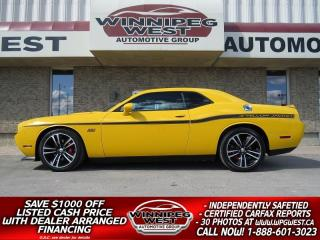 Used 2012 Dodge Challenger SRT8 392 YELLOW JACKET LTD ED, FLAWLESS 27K KMS! for sale in Headingley, MB