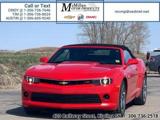 Used 2014 Chevrolet Camaro LT w/2LT  3.6L V6,CONVERTIBLE,LEATHER,RALLY SPORT for sale in Kipling, SK