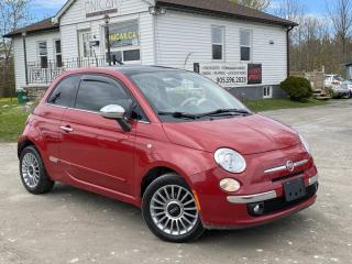 Used 2012 Fiat 500 No-Accidents LOW KMS BOSE Leather Sunroof BluetootH for sale in Sutton, ON