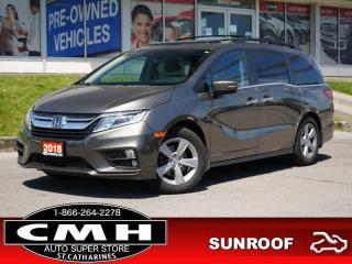 Used 2018 Honda Odyssey EX-L RES  CAM ROOF LEATH 8-PASS P/GATE for sale in St. Catharines, ON