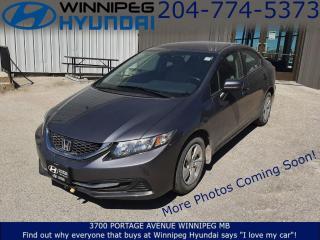 Used 2014 Honda Civic SEDAN LX for sale in Winnipeg, MB