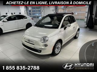 Used 2012 Fiat 500 C LOUNGE + GARANTIE + CONVERTIBLE + CUIR R for sale in Drummondville, QC