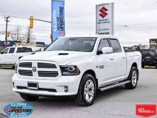 Used 2017 RAM 1500 Sport Crew 4x4 ~Air Ride ~Nav ~Cam ~Leather ~Roof for sale in Barrie, ON
