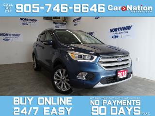Used 2018 Ford Escape TITANIUM | 4X4 | LEATHER | NAV | PANO ROOF for sale in Brantford, ON