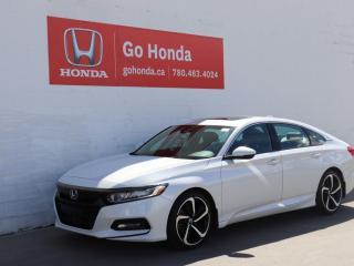 Used 2018 Honda Accord Sedan SPORT, AUTO, SUNROOF, HEATED SEATS, TURBO! for sale in Edmonton, AB