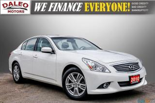 Used 2010 Infiniti G37 HEATED SEATS / BACKUP CAM / LEATHER / MOONROOF for sale in Hamilton, ON