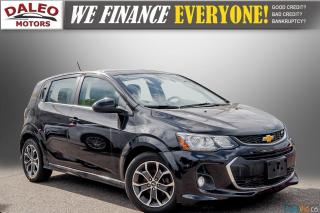Used 2017 Chevrolet Sonic LT/ REMOTE START / BACKUP CAM / MOONROOF / LOW KMS for sale in Hamilton, ON