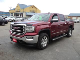 Used 2018 GMC Sierra 1500 SLT CrewCab 4x4 5.3L 5.5ftBox Nav LeatherHeated for sale in Brantford, ON