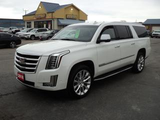 Used 2018 Cadillac Escalade ESV Luxury 6.2L Nav Roof DVD LeatherHeatedCooling8Pass for sale in Brantford, ON