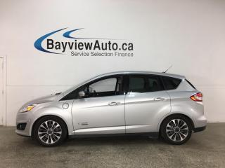 Used 2017 Ford C-MAX Titanium - HTD LEATHER! NAV! PLUG-IN HYBRID! for sale in Belleville, ON