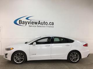 Used 2019 Ford Fusion Hybrid Titanium - HTD/COOLED LEATHER! NAV! SUNROOF! ADAPTIVE CRUISE! for sale in Belleville, ON