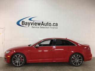 Used 2018 Audi S4 3.0T Technik - AWD! V6! NAV! SUNROOF! HTD LEATHER! LOADED! for sale in Belleville, ON