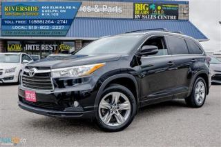 Used 2016 Toyota Highlander LIMITED  for sale in Guelph, ON