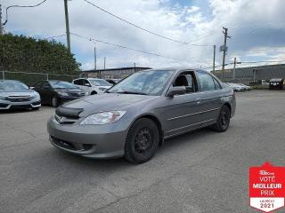 Used 2005 Honda Civic LX-G for sale in Saint-Eustache, QC