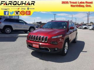 Used 2015 Jeep Cherokee Limited - Sunroof - Luxury Group - $165 B/W for sale in North Bay, ON