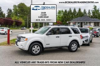 Used 2008 Ford Escape 4WD XLT, Very Clean, White, Affordable, Alloys, Keyless! for sale in Surrey, BC